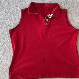 Burberry golf sleeveless cotton shirt